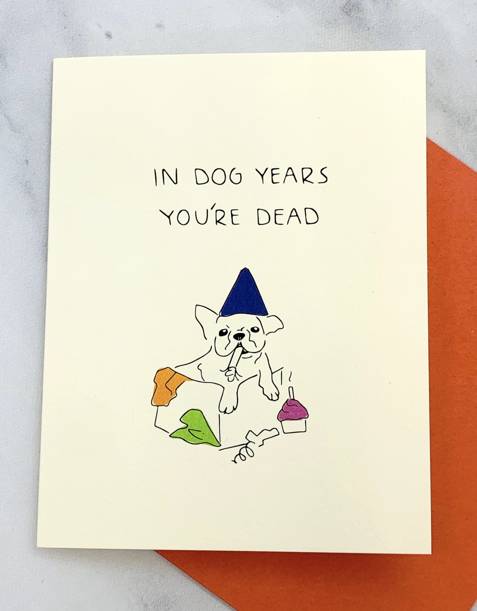 Pop + Paper In Dog Years Birthday Card
