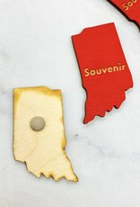 Red Indiana Souvenir Magnet