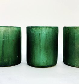 "2-3/4"" Round x 3""H Matte Teal Tealight Holder"