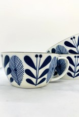 "CREATIVECOOP 4"" Round x 2-1/4""H 12 oz. Porcelain Blue and White Mug"