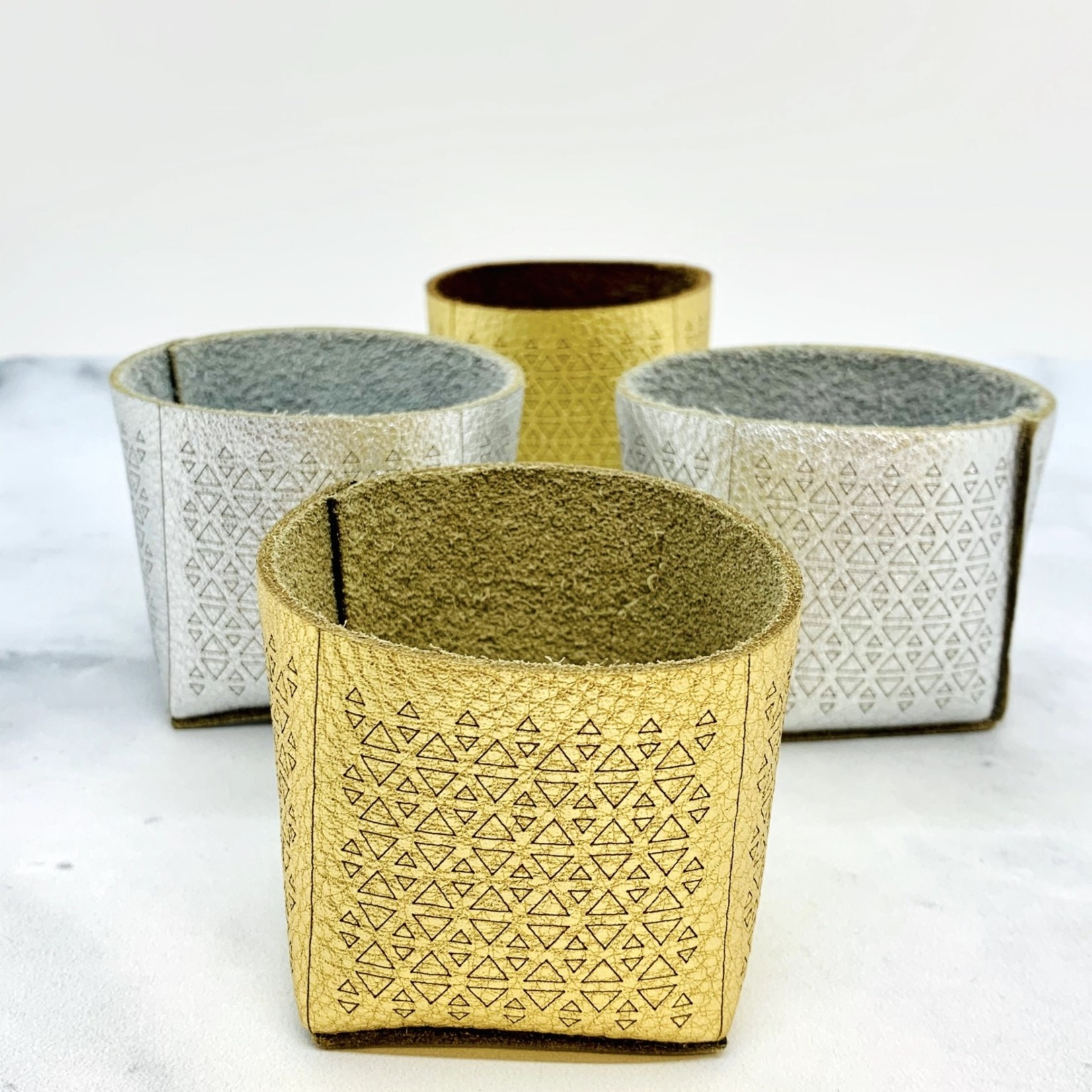 Molly M Leather Planters