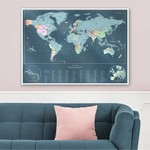 World Scratch Map Rainbow Edition