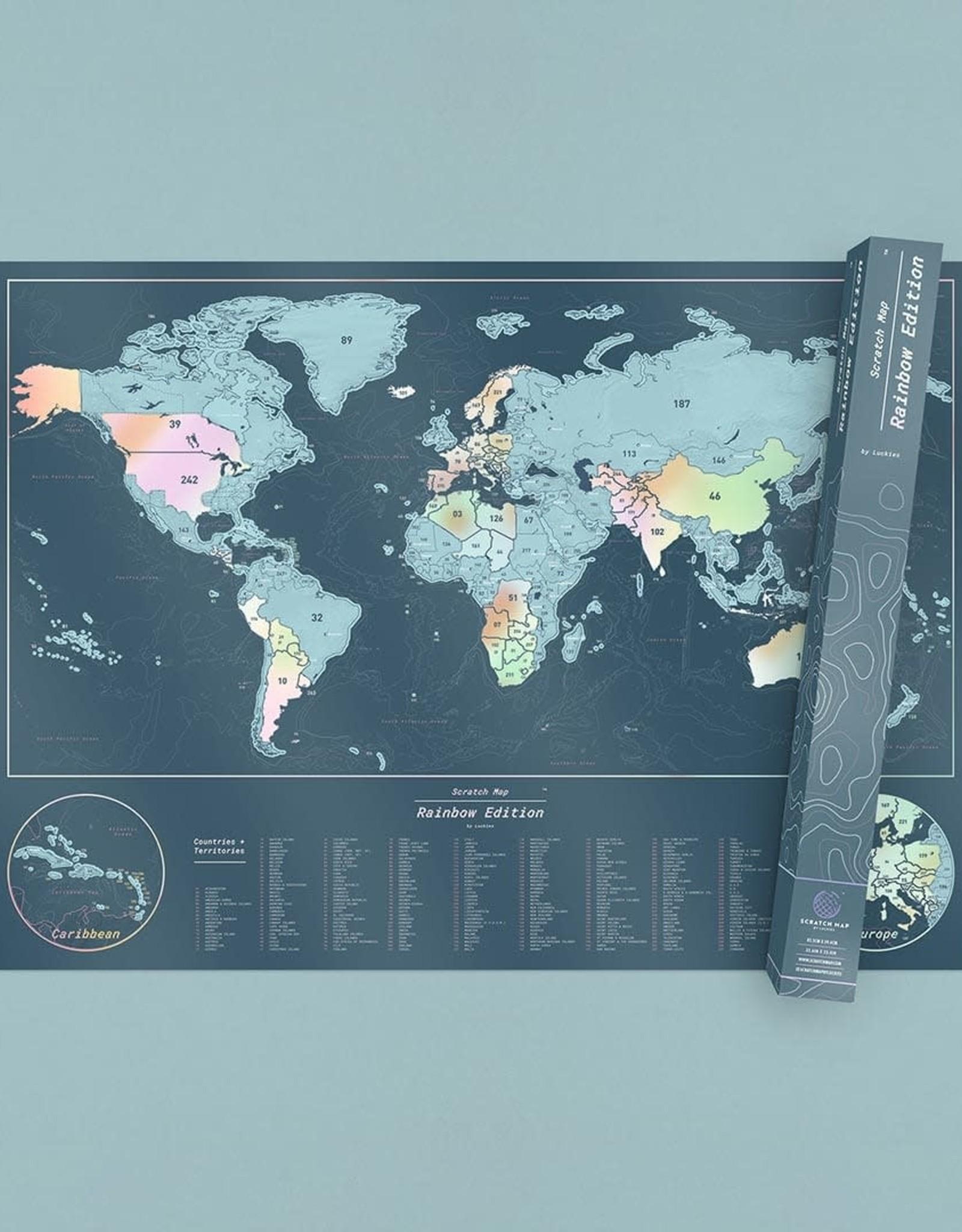 LUCKIES World Scratch Map Rainbow Edition