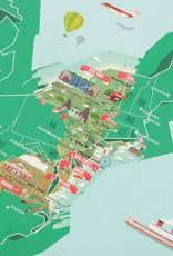 "USA Landmarks Scratch Map 32.6"" x 23.4"""