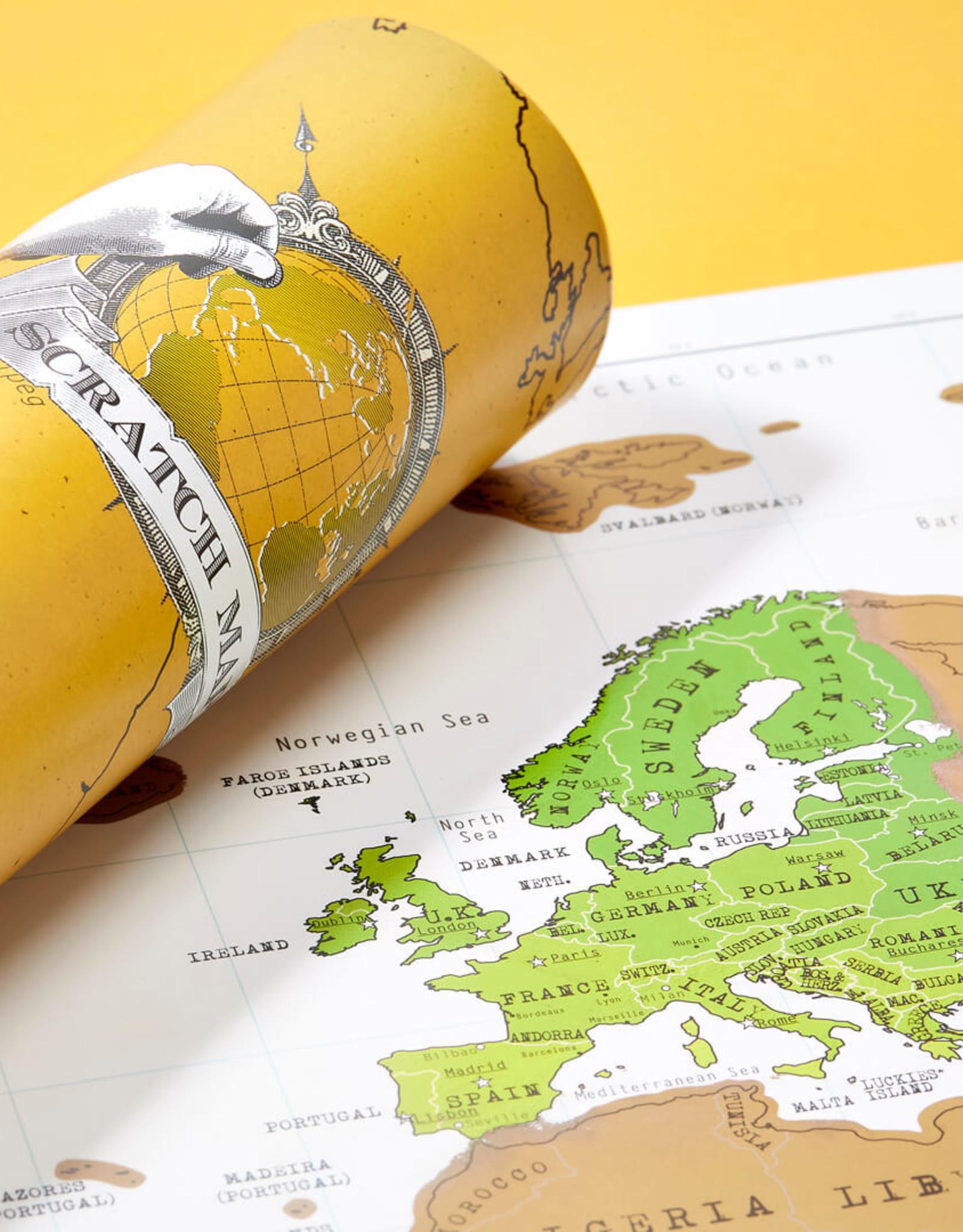 Original Scratch Map Travel Edition
