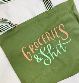 Olive Groceries & Shit Tote