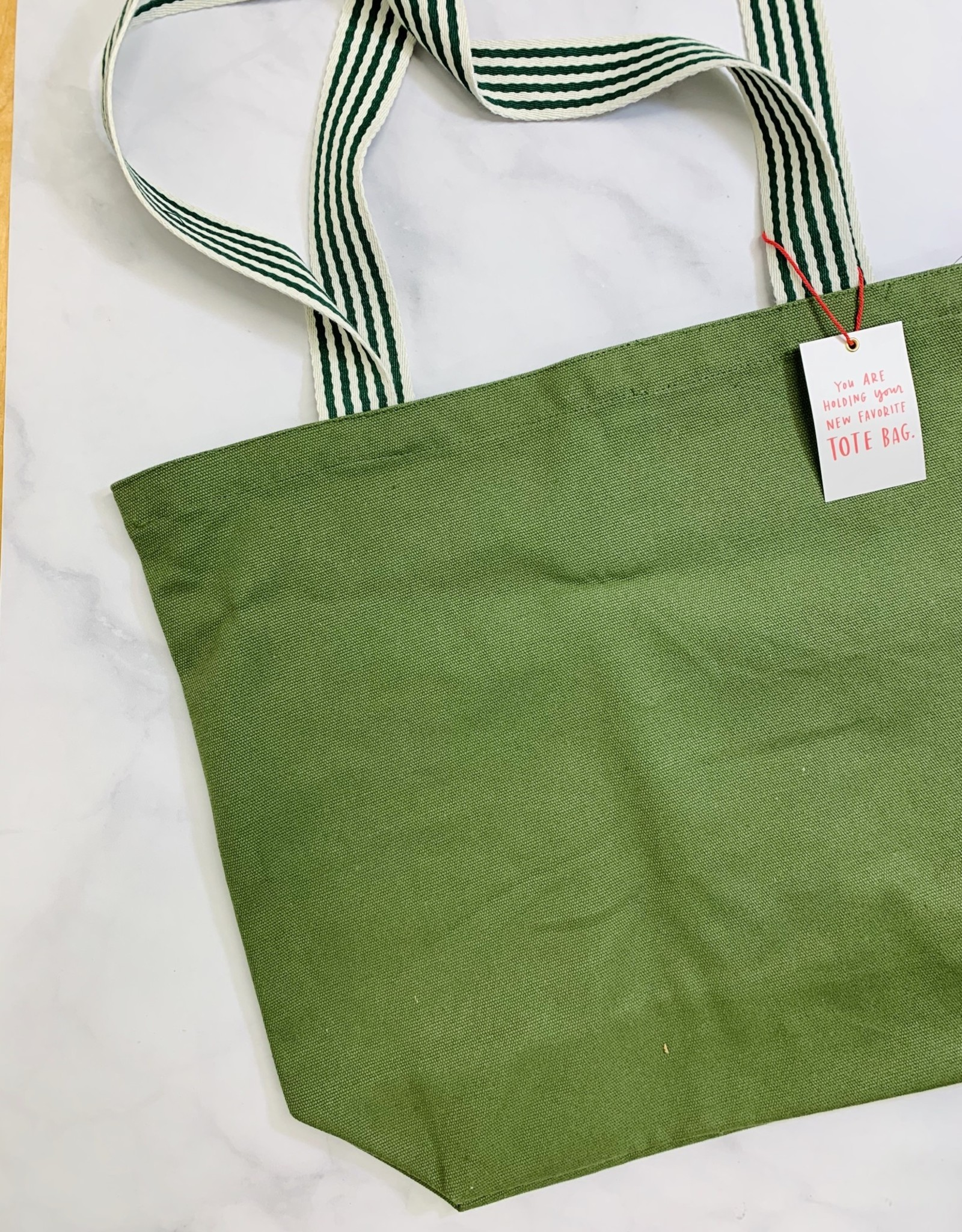 emily mcdowell Olive Groceries & Shit Tote