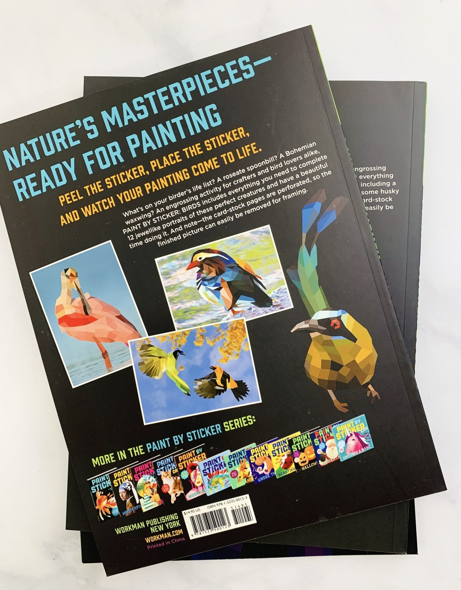 Workman Publishing Paint by Sticker Books
