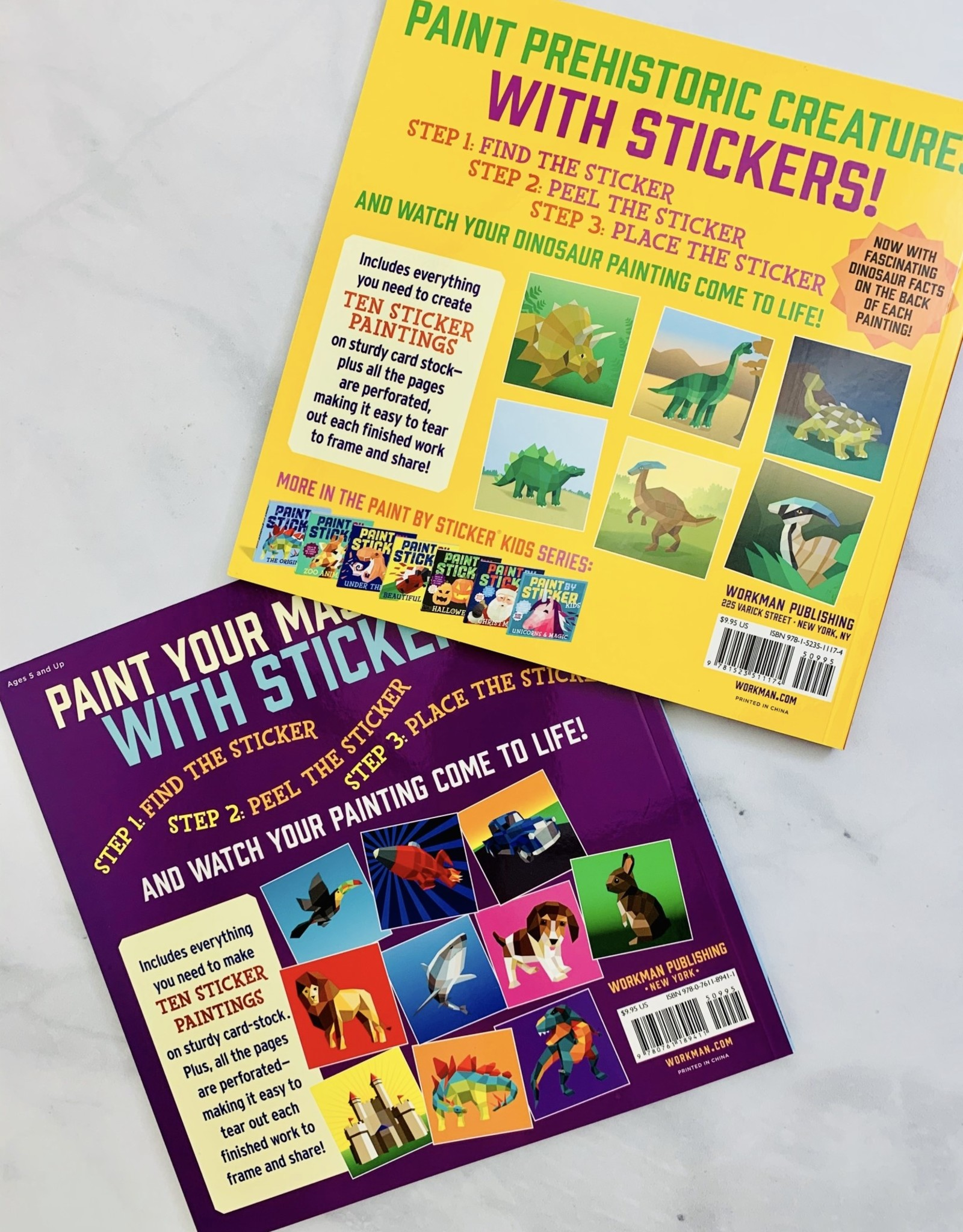 Kids Paint by Sticker Books