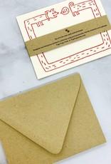 Fugu Fugu Press Hi Long Dog Flat Notecards Set of 8