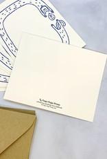Fugu Fugu Press Hi Long Cat Flat Notecards Set of 8