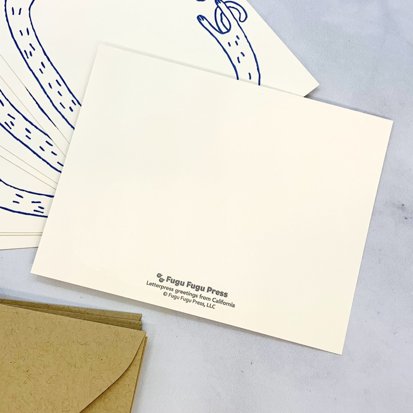 Hi Long Cat Flat Notecards Set of 8