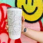 Indianapolis City Map Insulated Drinkware