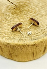 Unpossible Cuts Handmade Sushi Lasercut Wood Earrings on Sterling Silver Posts