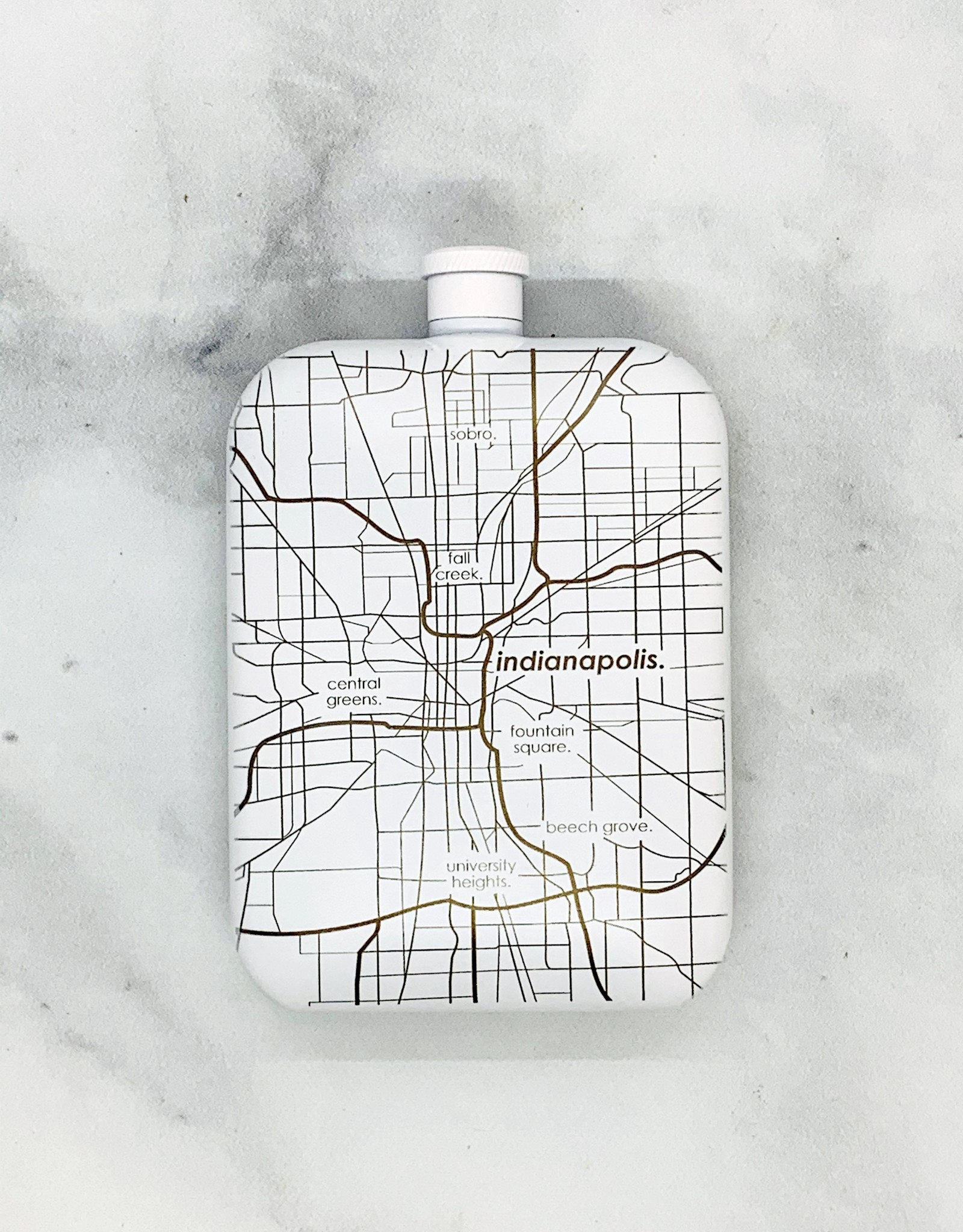 Well Told Indianapolis City Map Insulated Drinkware
