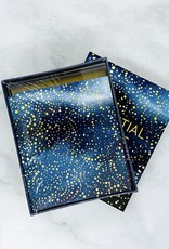 Celestial Notes 16 Foil-Stamped Notecards with Envelopes
