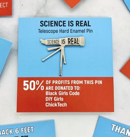 Science is Real Telescope Pin