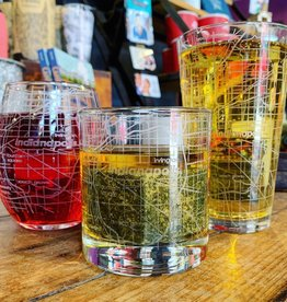 Well Told Indianapolis Map Glassware