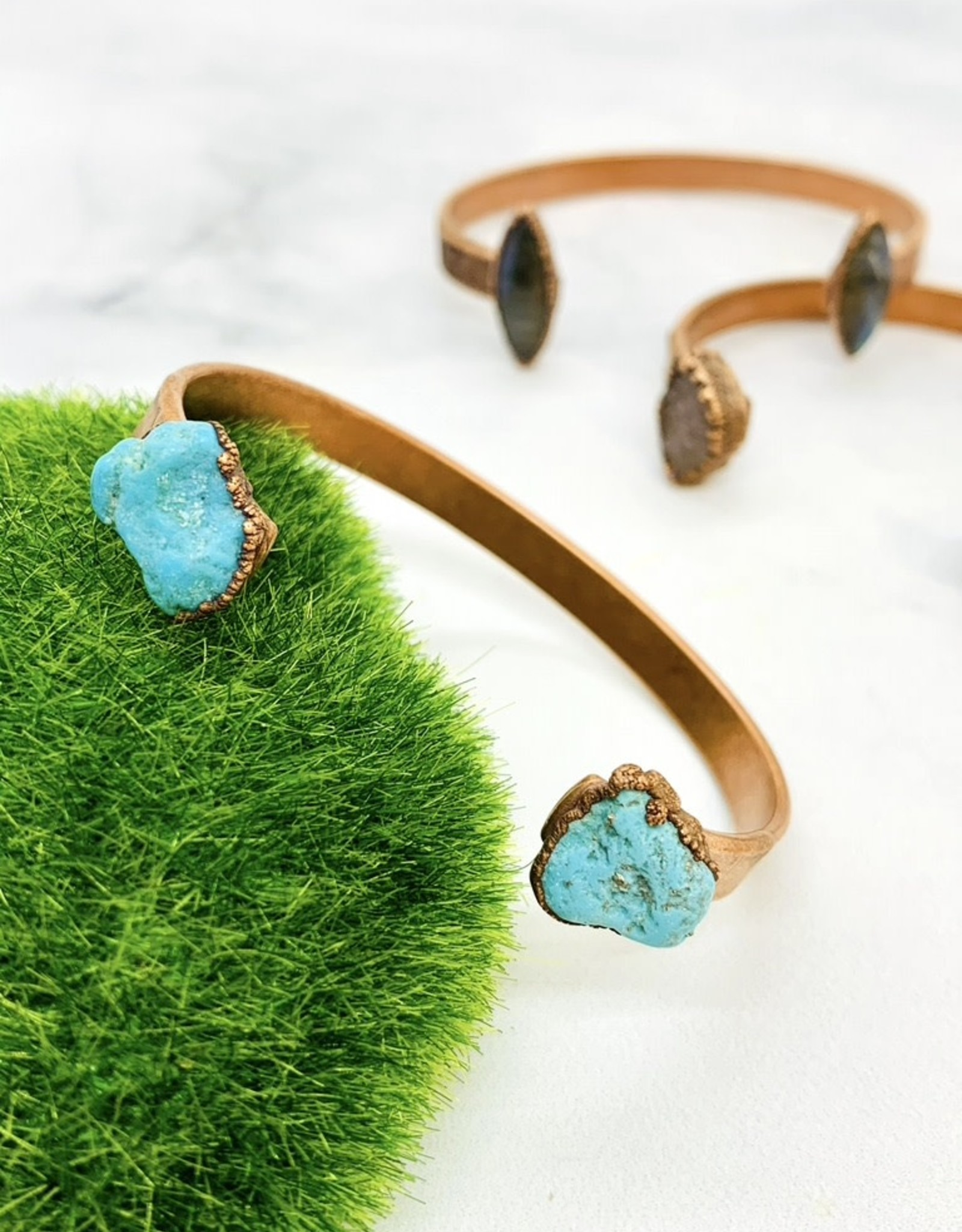 HawkHouse Copper Cuff Bracelet with Electroformed