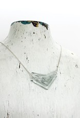 Small Glass Triple V Necklace in