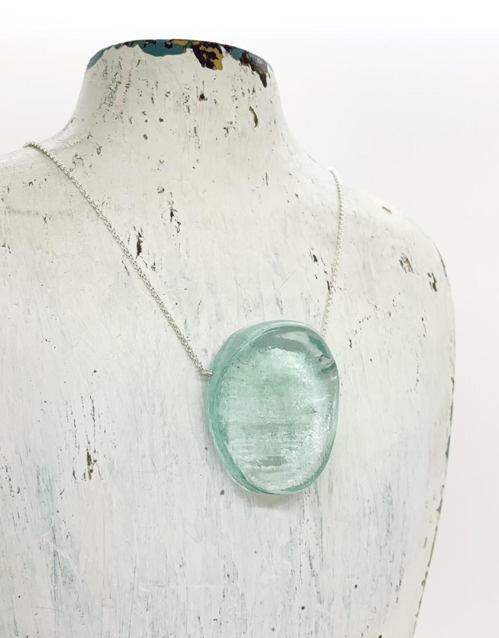Hot Pressed Mini Ellipse Glass Pendant in