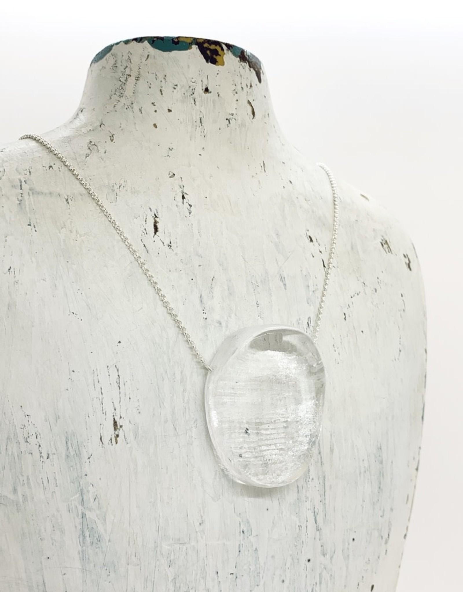 Broken Plates Hot Pressed Mini Ellipse Glass Pendant in