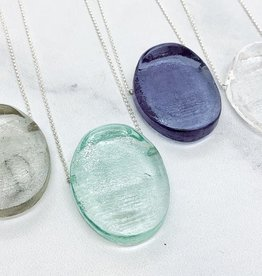 Broken Plates Hot Pressed Mini Ellipse Glass Pendant in