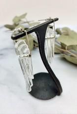 Broken Plates Kinetic Long Glass Deco Earrings