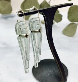 Broken Plates Kinetic Long Glass Deco Earrings