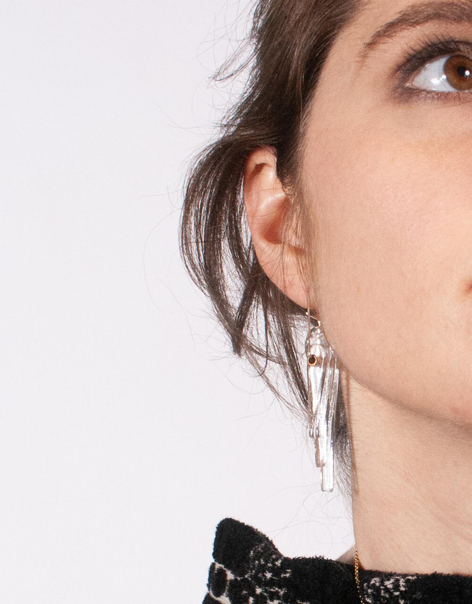 Kinetic Long Glass Deco Earrings
