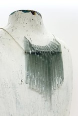 Broken Plates Kinetic Pointy Glass Bib Necklace in