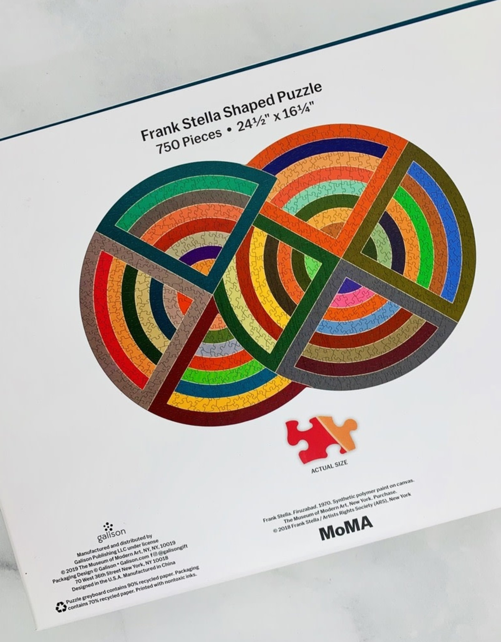 MoMA Frank Stella 750 Piece Shaped Jigsaw Puzzle