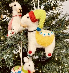 "CREATIVECOOP 3-1/2""H Wool Felt Embroidered & Appliqued Llama Ornament"