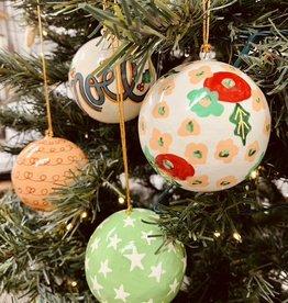 """CREATIVECOOP 3""""Hand-Painted Paper Mache Ornaments"""