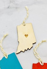 Snowmade Indiana Heart Ornament
