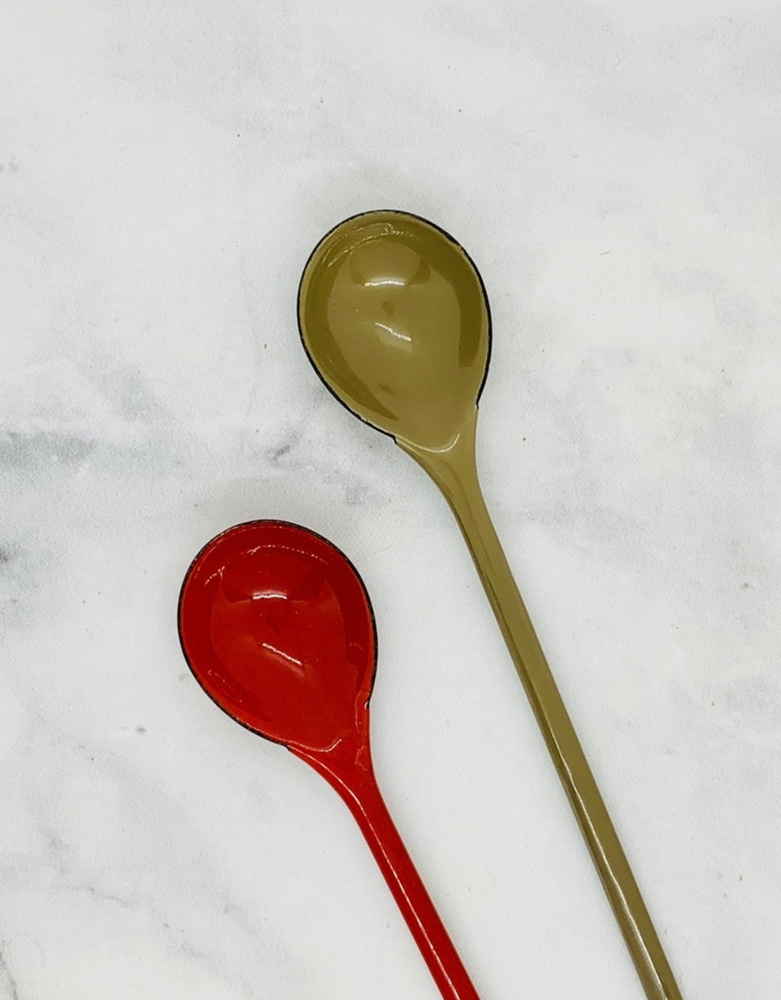"""9-1/2""""  Enamel Spoon"""