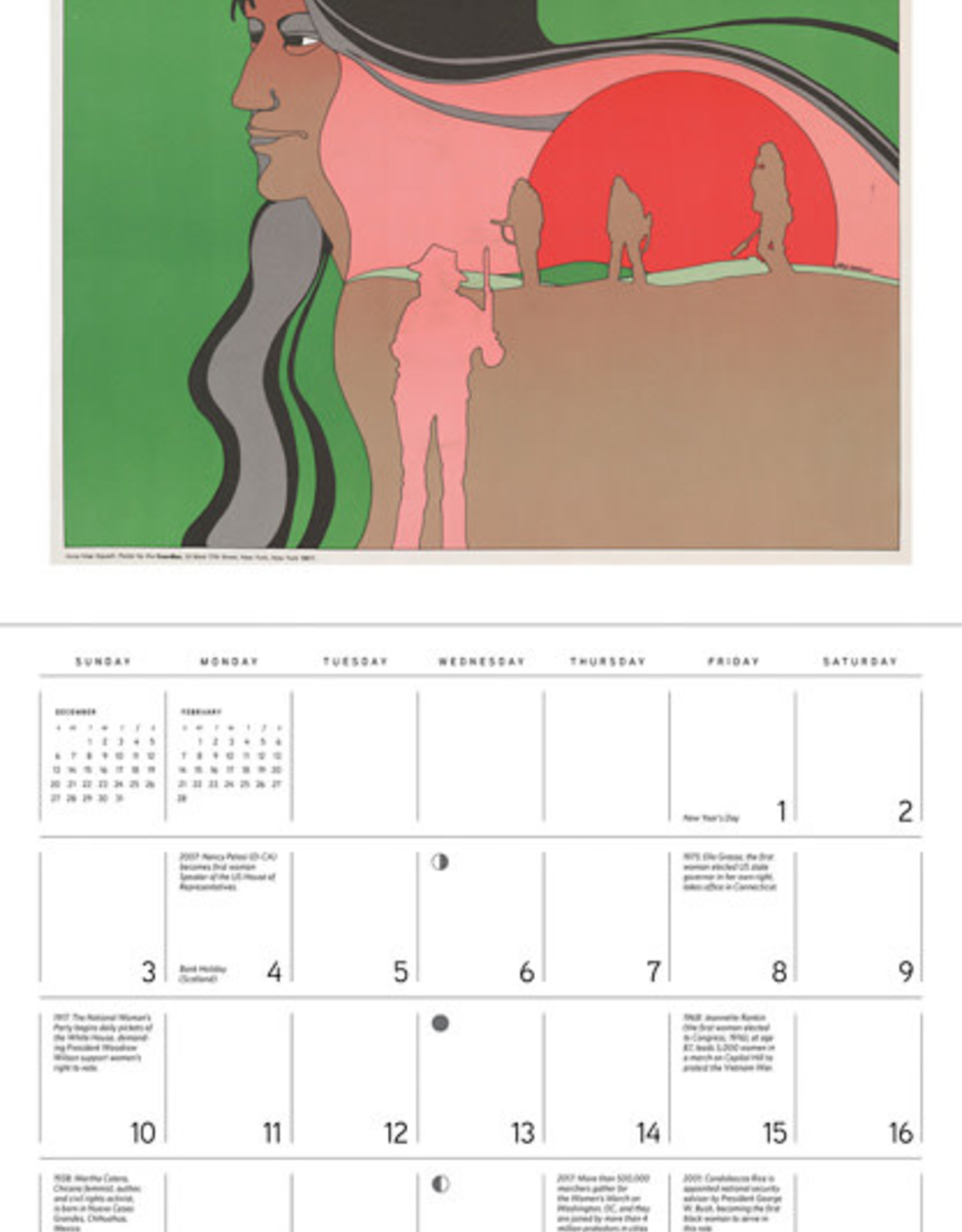 POMEGRANATE 2021 Wall Calendar: The Fight for Women's Rights