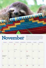 2021 Mini Wall Calendar: Sloths