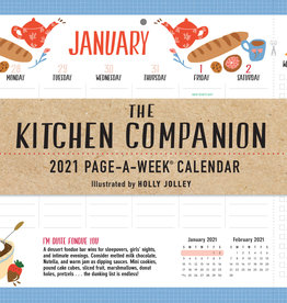 Workman Publishing The 2021 Kitchen companion Page a Week Calendar