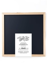The Type Set 15x15 Black Chalkboard