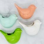 """4-1/4""""x2"""" Stoneware Bird Vase w/Magnet"""