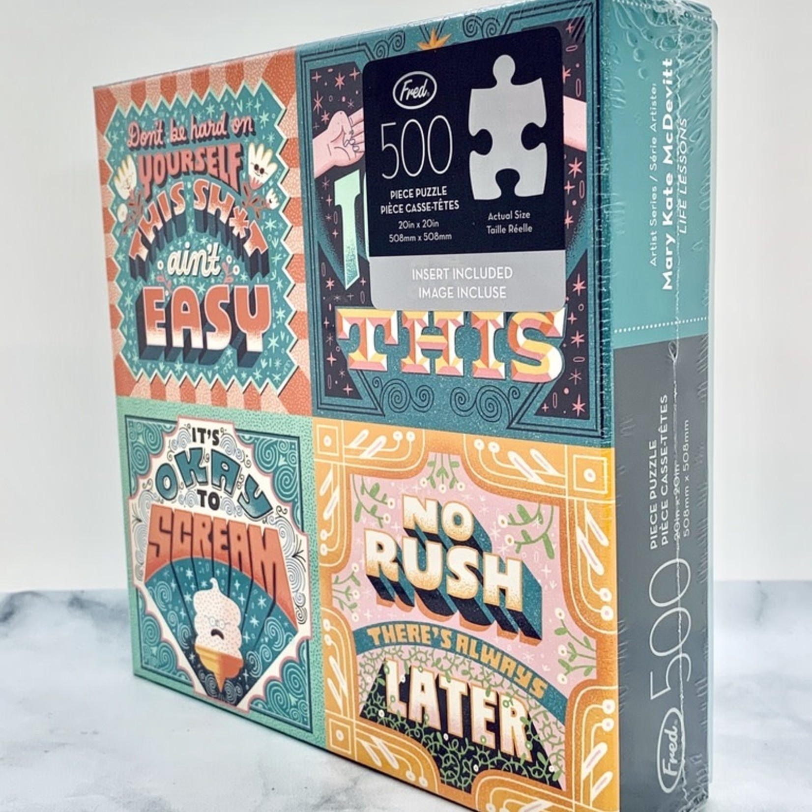Mary Kate McDevitt Life Lessons 500 Piece Puzzle