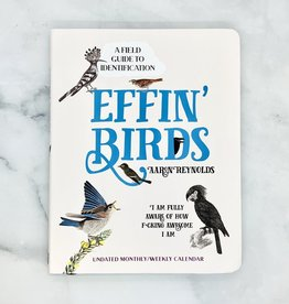 Simon & Schuster Effin' Birds Undated Weekly/Monthly Calendar