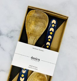 NOW Superbloom Mango Wood Salad Servers Set