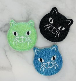 Kikkerland Kitty Scrub Sponge, Set of 3