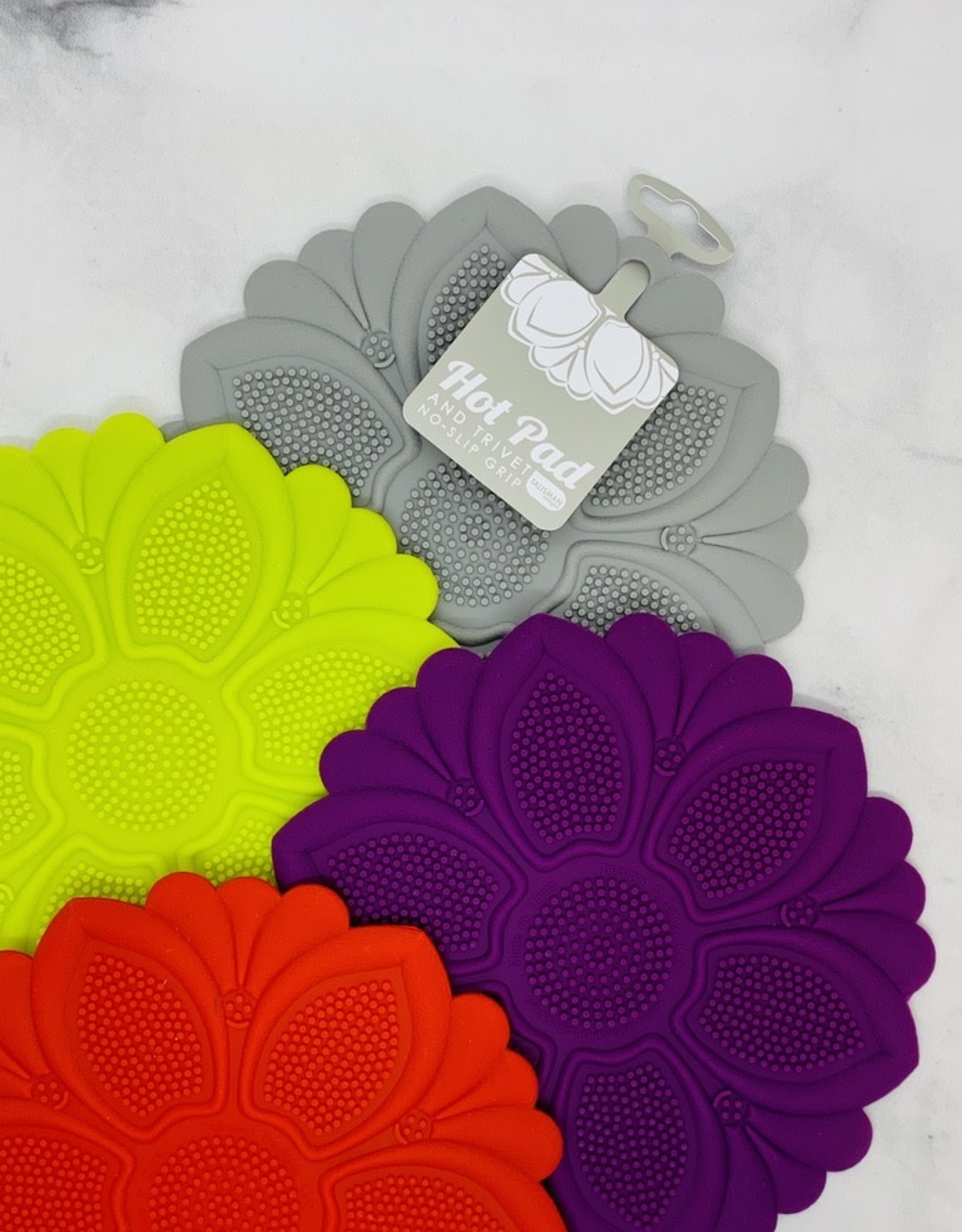 Talisman Silicone Floral Trivet Hot Pad