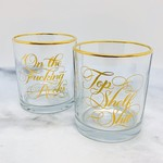 Two Damn Classy Rocks Glasses By Calligraphuck