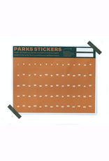 18x24 Special Edition Green  Screen National Parks Checklists with Gold Stickers