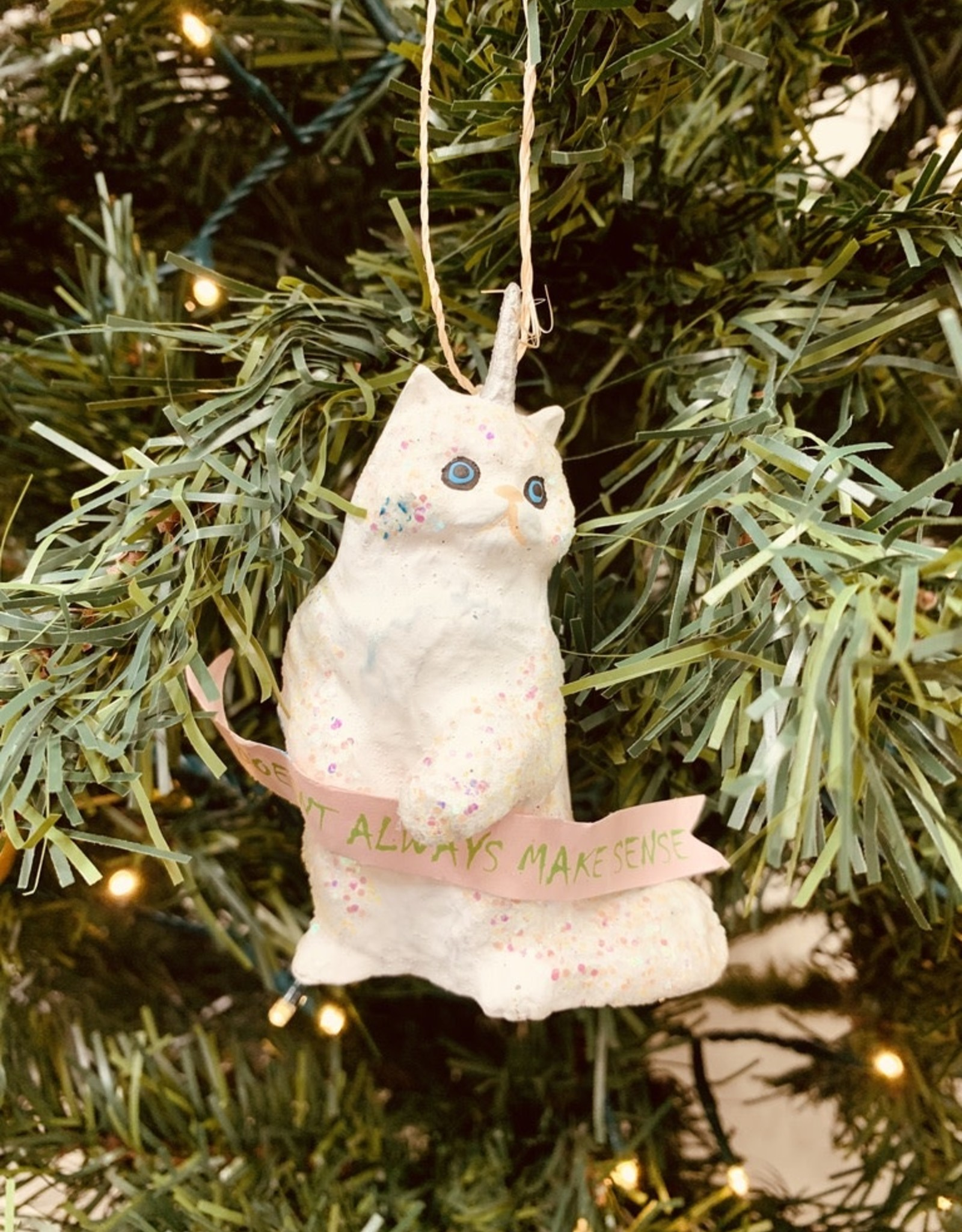 Magical Fantastical Unicorn Kitten Ornament