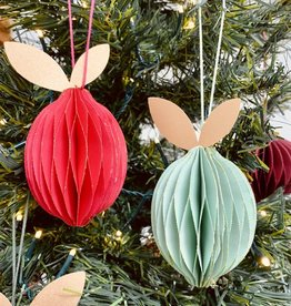 "2-1/4""H Paper Fruit Ornament"